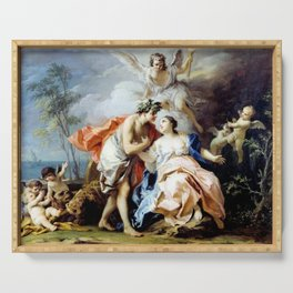 Jacopo Amigoni Bacchus and Ariadne Serving Tray
