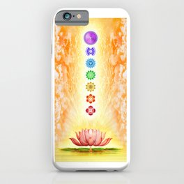 Sacred Lotus - The Seven Chakras iPhone Case