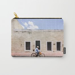 Riding a Bike in Merida, Mexico Carry-All Pouch