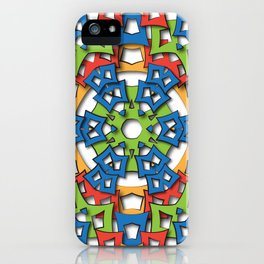 aztec mandala big sun iPhone Case