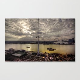 The Thames at Greenwich  Canvas Print