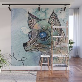 Blue Eyed Dog Wall Mural