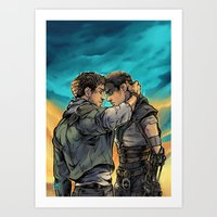 daunt Art Prints featuring Say Goodbye by Daunt