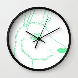 Llama Illustration Wall Clock