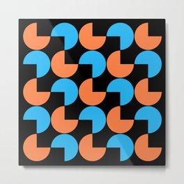 Mid Century Modern Geometric Pattern 808 Metal Print