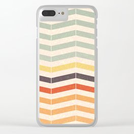 Vintage Chevron Clear iPhone Case