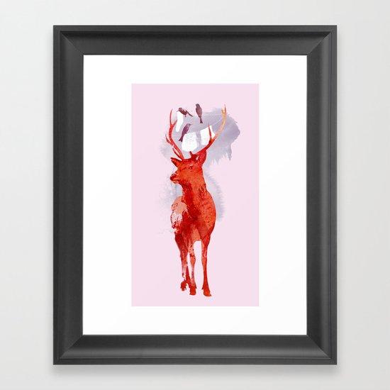 Useless Deer Framed Art Print