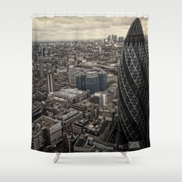 London from the 39th floor Shower Curtain