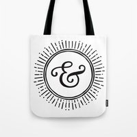ampersand Tote Bags featuring Ampersand by creative index