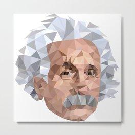 Mentor me Einstein Metal Print