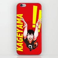 haikyuu iPhone & iPod Skins featuring Haikyuu!! Intense Kageyama!! by f-premaur