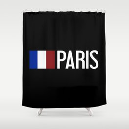 France: French Flag & Paris Shower Curtain