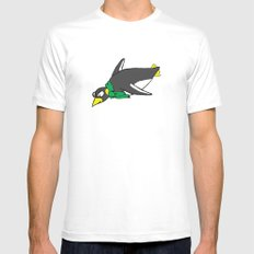 penguin MEDIUM White Mens Fitted Tee