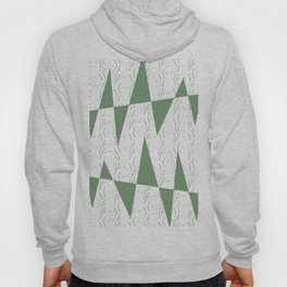 Abstract geometric pattern on white background Hoody