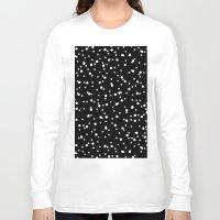 polkadot Long Sleeve T-shirts featuring Polkadot Black Pattern by Pan Lis