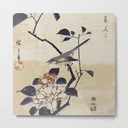 Hiroshige Bird Metal Print