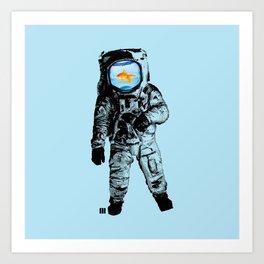 Goldfish Astronaut Art Print
