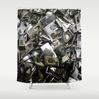 frame Shower Curtains featuring Frame clip by Anand Brai