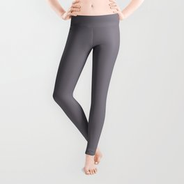 Muted Deep Purple - Inspired By PPG Glidden Magic Dust PPG13-24 Solid Color Leggings