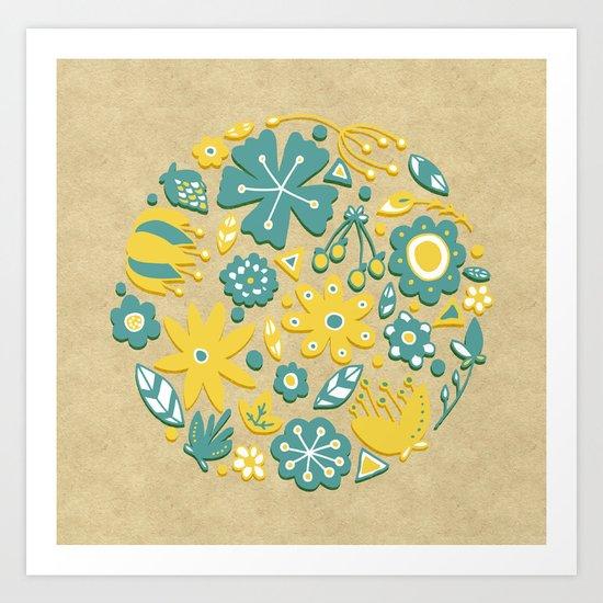 Little Flower Circle Art Print