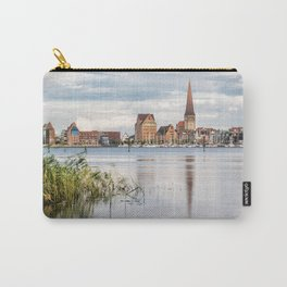 View over the river Warnow to Rostock Carry-All Pouch
