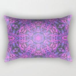 Pink and Purple Kaleidoscope 2 Rectangular Pillow