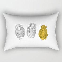 Silence Is Golden Rectangular Pillow
