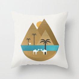 The Nile Throw Pillow