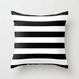 Stripe Black & White Horizontal Throw Pillow