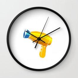 I Give Blower Jobs Funny Hairdresser Pun Hairstylist Coiffurist Hair Cut Salon Gift Wall Clock