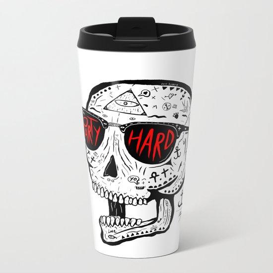 Party Hard Metal Travel Mug