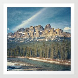 Castle Mountain Art Print