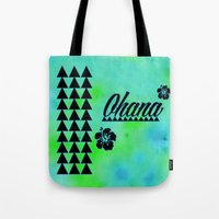 ohana Tote Bags featuring My Ohana by Lonica Photography & Poly Designs