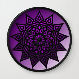 Purple Star | Tam Tam | Mandhala Wall Clock