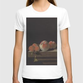 Adriaen Coorte - Peaches and apricots on a stone ledge T-shirt