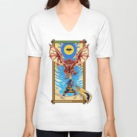 monster hunter V-neck T-shirts featuring Epic Monster Hunter by MeleeNinja