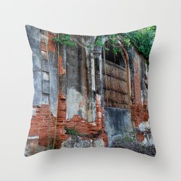 Old Colonial Building Throw Pillow