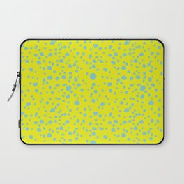 Postmodern Granite Terrazzo Large Scale in Canary Yellow + Mint Laptop Sleeve