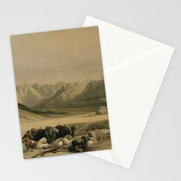 Vintage Print - The Holy Land, Vol 3 (1843) - Approach to Mount Sinai Wady Barah Stationery Cards