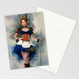 Steampunk Girl Stationery Cards