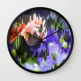 Cave Flowers Wall Clock