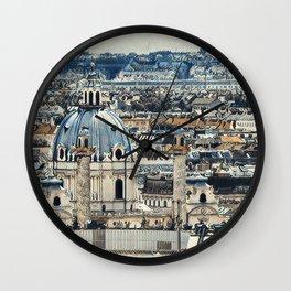 Painted Vienna 2 Wall Clock