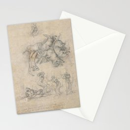 Michelangelo - The Fall of Phaeton Stationery Cards