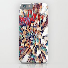 Japanese Inspired Lily Design Sketch iPhone Case