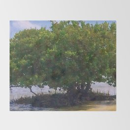 Mangrove Tree Throw Blanket