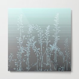WILDFLOWERS - STRIPED OMBRE Metal Print