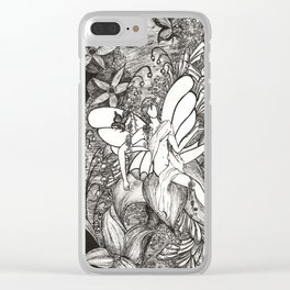 Butterfly king Clear iPhone Case