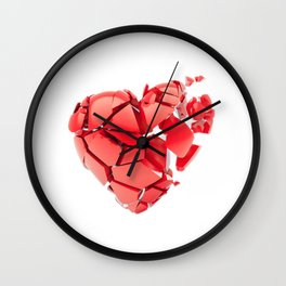 Broken 3d heart Wall Clock