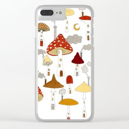mushroom homes Clear iPhone Case