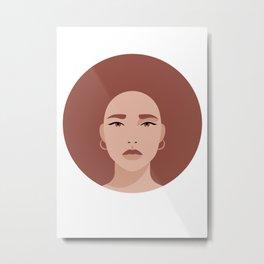 Beautiful girl in nude tones Metal Print